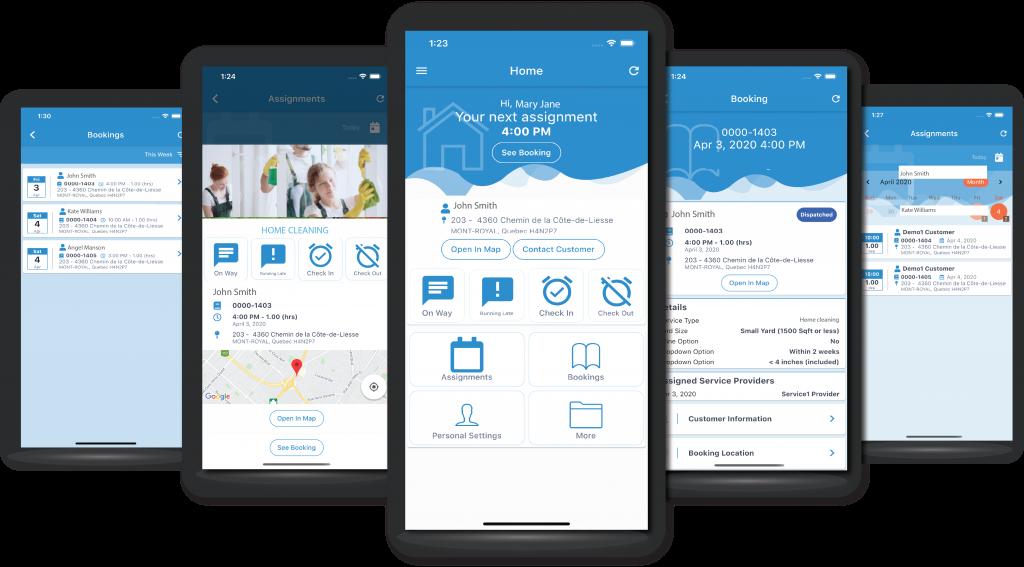 PodiumIO mobile app for home service businesses
