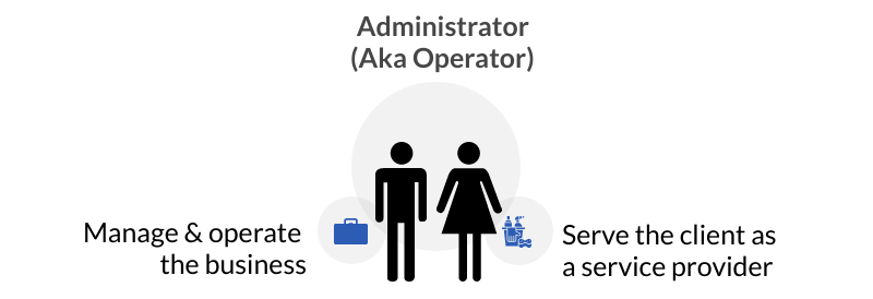 An administrator can also be a service provider