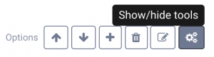 Toolbar to edit section in your booking page