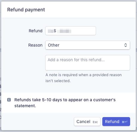Refund Payment Stripe Final Step