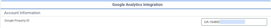 Enter Google Tracking ID under Google Analytics Integration