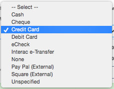 Payment options to charge your customer